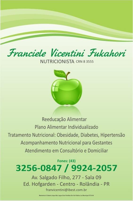 Franciele Vicentini Fukahori - Nutricionista
